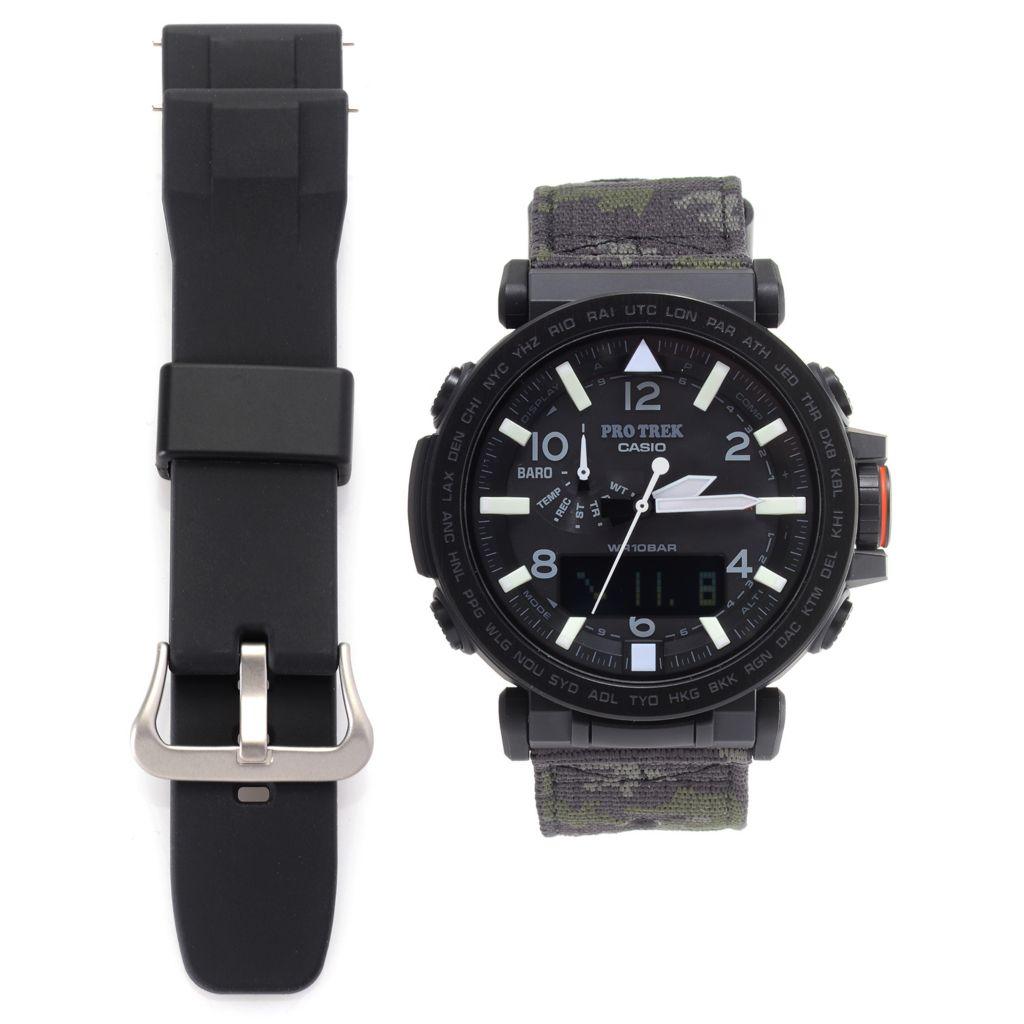 Casio 52mm Pro Trek Ana  Digi Solar Watch w Extra Strap - 651-602