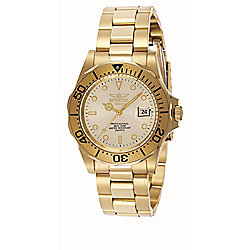 Invicta Men's 40mm Pro Diver Quartz Date Gold-tone Stainless Steel Bracelet Watch