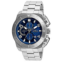 Invicta Men's 48mm Pro Diver Quartz Multi Function Silver-tone Bezel Stainless Steel Bracelet Watch