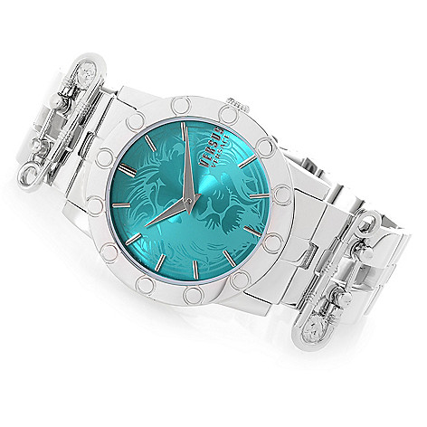 c00f7d532f 654-476- Versus Versace Women s Miami Quartz Stainless Steel Bracelet Watch