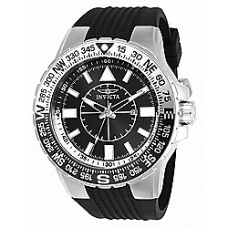 2504395c5 Image of product 655-324. QUICKVIEW. More Choices Available. Invicta Men's  52mm Aviator Voyage Quartz Silicone Strap.