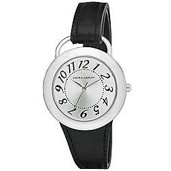 cac950a5ab2 Laura Ashley Women s Quartz Black Leather Strap Watch
