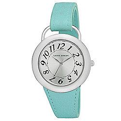 bdea740702b Laura Ashley Women s Quartz Teal Leather Strap Watch