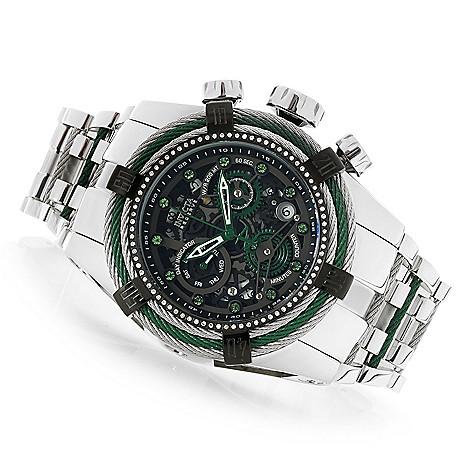 64c4e92e4 656-336- Invicta Reserve Men's 52mm Bolt Zeus Swiss Quartz 0.33ctw Diamond  Bracelet