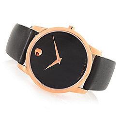 Movado 28mm or 40mm Swiss Made Quartz Sapphire Crystal Strap Watch - 656-420