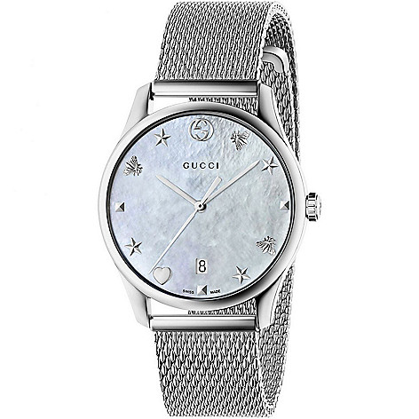 f1e6c50b5b2 Gucci Women s G-Timeless Swiss Made Quartz Mother-of-Pearl Dial ...