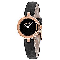 3879751f65a Gucci Women s Diamantissima Swiss Made Quartz Black Dial Leather Strap Watch