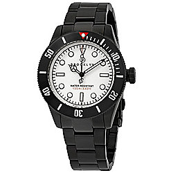 Brooklyn Watch Co. Men's 41mm Black Eyed Pea Quartz White Dial Stainless Steel Bracelet Watch