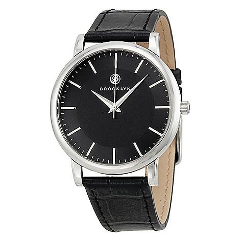 Brooklyn_Watch_Co._Men's_40mm_Myrtle_Swiss_Quartz_Silver-tone_Leather_Strap_Watch