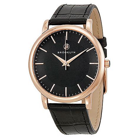 Brooklyn_Watch_Co._Men's_40mm_Myrtle_Swiss_Quartz_Black_Leather_Strap_Watch