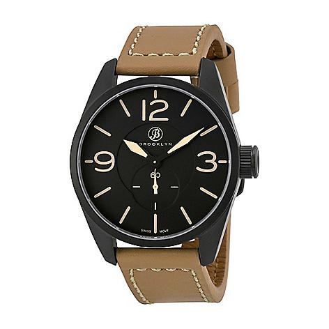 Brooklyn_Watch_Co._Men's_44mm_Lafayette_Swiss_Quartz_Brown_Leather_Strap_Watch
