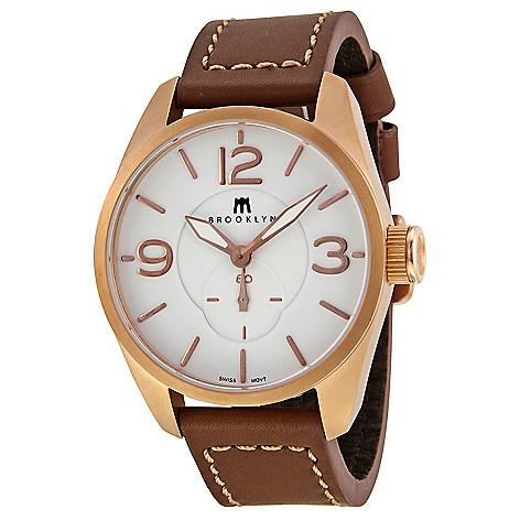 Brooklyn_Watch_Co._Men's_44mm_Lafayette_Swiss_Quartz_White_Dial_Leather_Strap_Watch