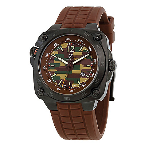 Brooklyn_Watch_Co._Men's_45mm_Hamilton_Army_Swiss_Quartz_Compass_Brown_Rubber_Strap_Watch