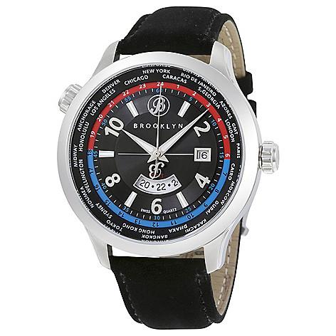Brooklyn_Watch_Co._Men's_46mm_Cadman_Swiss_Quartz_GMT_Black_Leather_Strap_Watch