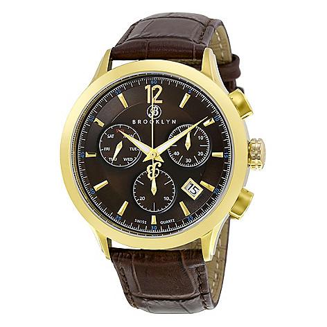 Brooklyn_Watch_Co._Men's_46mm_Dakota_Swiss_Quartz_Chrono_Brown_Leather_Strap_Watch