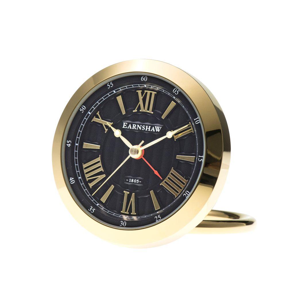 657 419  Thomas Earnshaw Quartz Gold Tone Table Clock