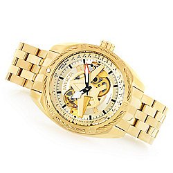 eb5001962 Image of product 657-929. QUICKVIEW. Invicta Men's 50mm Aviator Bolt Flight  Series Automatic Open Heart Watch