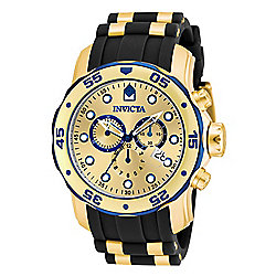 Invicta Men's 48mm Pro Diver Quartz Chronograph Stainless Steel Polyurethane Strap Watch