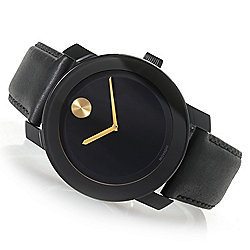 1813120465d Image of product 658-653. QUICKVIEW. Movado Men s 42mm Bold Quartz Leather  Strap Watch