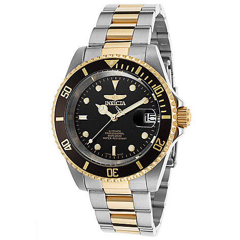 e74be55e767 659-123- Invicta 40mm Pro Diver Automatic Black Dial Two-tone Stainless  Steel