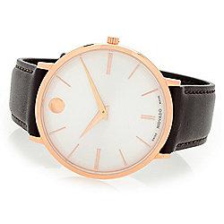 e22033040df Movado Men s 40mm Ultra Slim Swiss Made Quartz Sapphire Crystal Strap Watch
