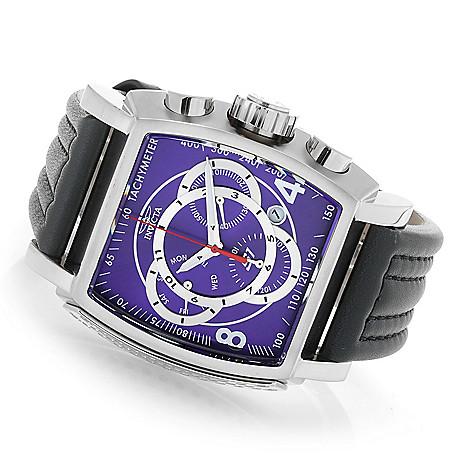 5de4912d6 659-229- Invicta Men's Tonneau S1 Rally Quartz Chronograph Leather Strap  Watch
