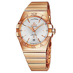 Omega Men's 38mm Constellation Swiss Made Automatic Diamond Accented 18K Rose Gold Bracelet Watch - 659-422