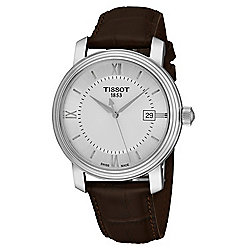 ca2a89b57e3 Tissot Men s 40mm Bridgeport Swiss Made Quartz Date Brown Leather Strap  Watch