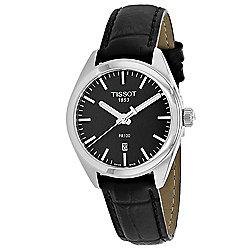 6391aa53183 Tissot Men s 31mm Classic Swiss Made Quartz Date Black Leather Strap Watch