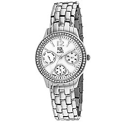 Roberto Bianci Women's Valentini Quartz Crystal Accented White Mother-of-Pearl Dial Bracelet Watch