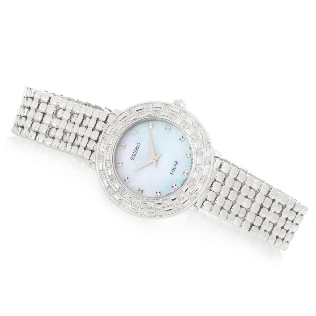 Seiko Tressia Diamond Accented Bracelet Watch - 660-205