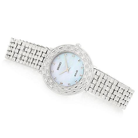 Seiko_Women's_Tressia_Solar_Quartz Diamond_Accented_Stainless_Steel_Bracelet_Watch