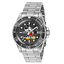Invicta Disney® 40mm Ltd Edition Automatic Charcoal Dial Stainless Steel Bracelet Watch - 660-429