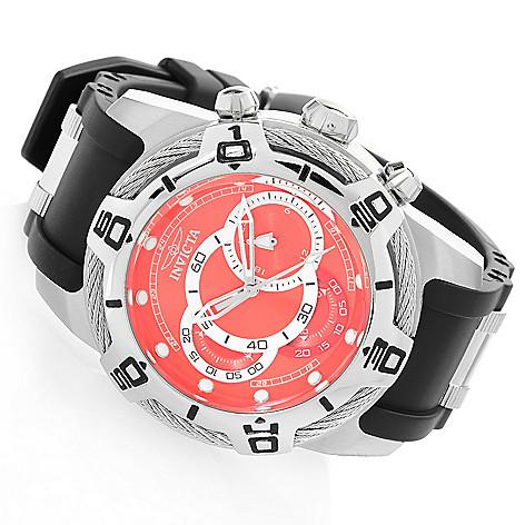 10c89b61e 660-762- Invicta Men's 50mm Bolt Quartz Chronograph Polyurethane Strap Watch