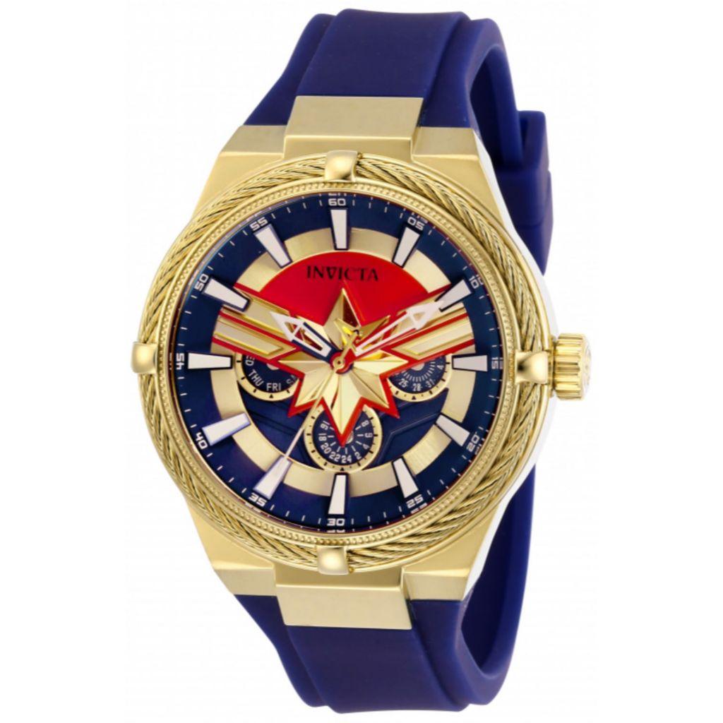 Invicta Marvel 40mm, Captain Marvel, Bolt Limited, Edition Quartz, Strap  Watch
