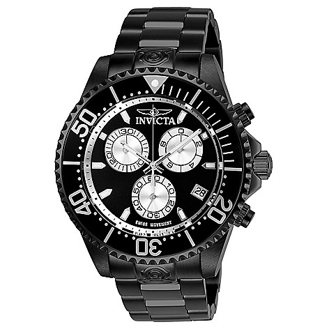 c21046999 Invicta Men's 47mm Grand Diver Swiss Quartz Chronograph Bracelet Watch w/  3-Slot Dive Case - EVINE
