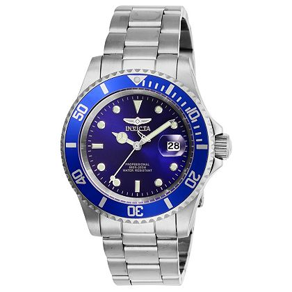 Must Have Invicta Gifts ShopHQ | 661-518 Invicta 40mm Pro Diver Quartz Magnified Date Window Stainless Steel Bracelet Watch