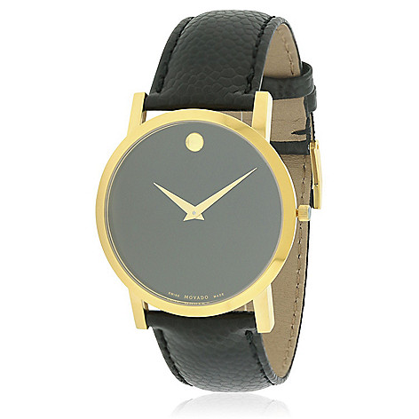 f7d1849d93c 661-560- Movado Men s 38mm Classic Museum Swiss Made Quartz Leather Strap  Watch