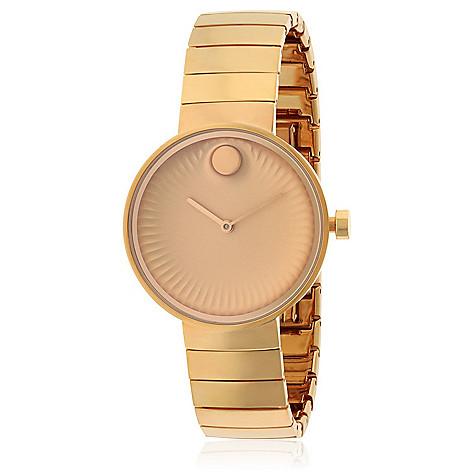 1021d8289 Movado Women's Edge Swiss Made Quartz Rose-tone Stainless Steel Bracelet  Watch - EVINE