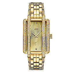 661-955 JBW Women's 28mm Mink Swiss Quartz Diamond Accented Bracelet Watch Made w Swarovski Crystals - 661-955