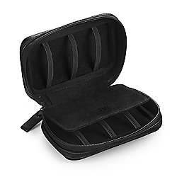JBW Black Faux Leather Travel Watch Case