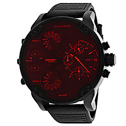 66d28a9e71e Diesel Men s 57mm Mr. Daddy 2.0 Quartz Multi Function Black Leather Strap  Watch