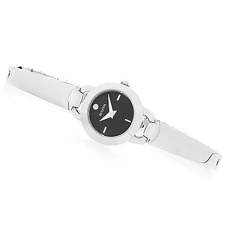 662-901- Bulova Women s Quartz Diamond Accented Stainless Steel Bracelet  Watch a90a80b579