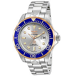 Invicta Men's 47mm Grand Diver Automatic Date Blue Bezel Stainless Steel Bracelet Watch