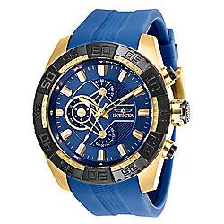 0a5630aca2c Invicta Men s 50mm Pro Diver Quartz Chronograph Blue Silicone Strap Watch