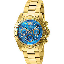 Invicta 40mm Speedway Quartz Chronograph Blue Mother-of-Pearl Stainless Steel Bracelet Watch