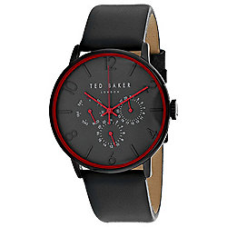 1937f3c43 Image of product 664-021. QUICKVIEW. Ted Baker Men s 41mm Classic Quartz  Red Accented Black.