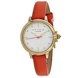 6cc56e7b6 Ted Baker Women s Classic Quartz Orange Leather Strap Watch