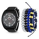 ec4c3f46a Skagen Men's 40mm Aaren Quartz Blue Leather Strap Watch - EVINE