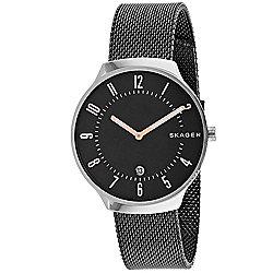 ae5701384 Image of product 664-692. QUICKVIEW. Skagen Men's 37mm Grenen Quartz Black  Stainless Steel Bracelet Watch